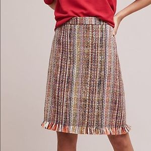 Maeve x Anthropologie Tweed A Line Skirt